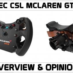 Fanatec CSL McLaren GT3 Wheel Rim Overview