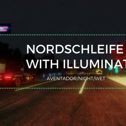 Assetto Corsa - Lamborghini Aventador @ Nordschleife Wet at Night