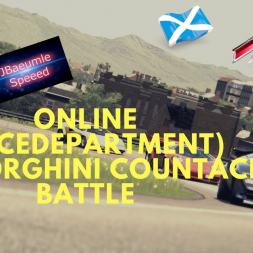 Assetto Corsa - Lamborghini Countach online battle (Racedepartment) @ Highlands Long
