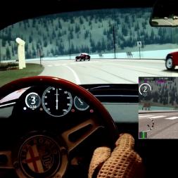 AC - Lake Luise (lake loop) - Alfa Romeo TZ - 100% AI race