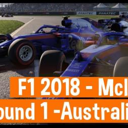 F1 2018 Career Mode - Mclaren - Round 1 Australia