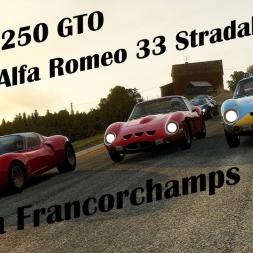 Ferrari 250 GTO and Alfa Romeo 33 Stradale 1 Lap Race @ Spa Francorchamps 1966 - Assetto Corsa