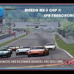 RaceDepartment.com Social Event: Mazda MX-5 Cup @ Spa Franchorchamps Oculus VR