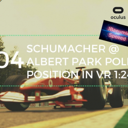 Assetto Corsa - Schumacher Ferrari F2004 @ Albert Park Pole Position in VR