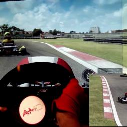 AMS - Interlagos Kart 3 - Kart 125cc shifter - 100% AI race