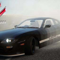Assetto Corsa: Drift Supra on Black Cat County Short!