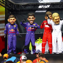 """""""The F1 Dance Crew"""" - Drivers Jam Out On Stage at The Belgian GP"""