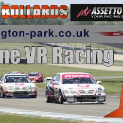 Intense podium Battle! VR online racing Nissan Primera BTCC Donington