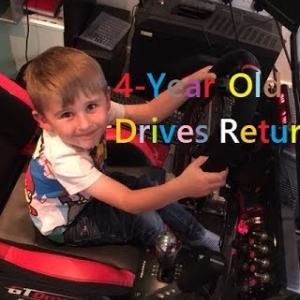 He's Back! Can Our Resident 4-Year-Old Sim Racer Beat Knockhill?
