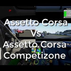 Assetto Corsa versus Assetto Corsa Competizione visuals and performance comparison