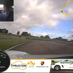 Driving the Porsche Cayman - Thruxton Driving Experiences