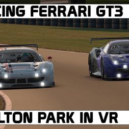 IRACING IN VR / FERRARI GT3 / OULTON PARK
