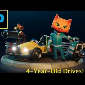 4-Year-Old Drives - Meow Motors Edition