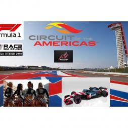 RSS Formula Hybrid 2018 @ Austin - 15 laps race - start P12 finish P1 - Multi cam view