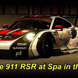 Porsche 911 RSR in der Nacht auf Spa - Assetto Corsa