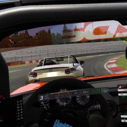 Close MX-5 Battles @ Nurburgring Sprint VR (31-10-18) | Assetto Corsa, Mazda MX-5