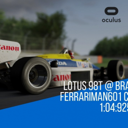 Assetto Corsa Lotus 98T @ Brands Hatch Challenge Time