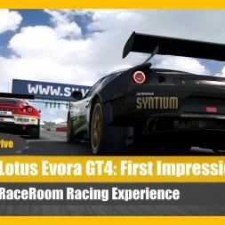 Lotus Evora GT4 - RacerRoom Talk 'n' Drive (Part 1)