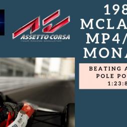 Assetto Corsa - Ayrton Senna 1988 McLaren mp4/4 @ Monaco