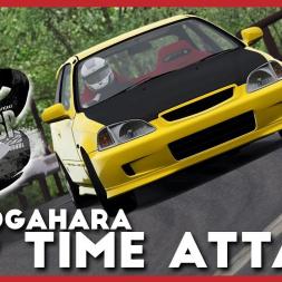 Honda Civic EK9 Type-R Happogahara Touge Time-attack - Assetto Corsa VR Gameplay
