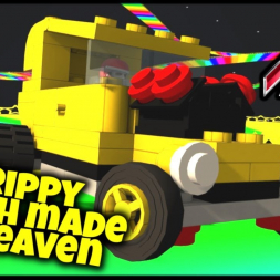 Trippy Match Made In Heaven - Assetto Corsa VR - Lego Hot Rod - Rainbow Road