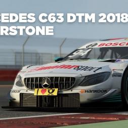 Mercedes C63 DTM 2018 / Silverstone / Assetto Corsa / Cockpit + Replay