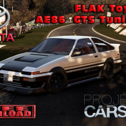 Project Cars 2 * 1986 FLAK Toyota AE86 GTS Tuning [mod download]