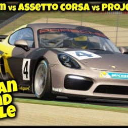 Cayman Sound Battle - Sound Comparison Real Cayman GT4 vs Raceroom vs AssettoCorsa vs Project Cars 2