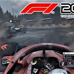 F1 2018 - Heavy Rain at Spa - 25% Race - 4K Ultra Graphics Gameplay