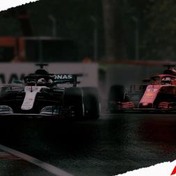 F1 2018 Lewis Hamilton Race in the Rain at Monza (Max Graphics/1440p)