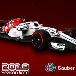 F1 2019 Alfa Romeo Sauber Livery | Kimi Raikkonen Gameplay