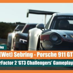 rFactor 2: Porsche 911 GT3 @ a Wet Sebring - Unedited Gameplay