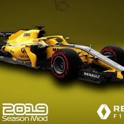 F1 2019 Rensult Livery | Daniel Ricciardo Gameplay