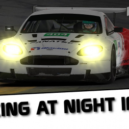 iRacing at night in VR