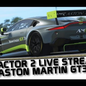 rFactor 2 live stream - Aston Martin GT3 race and review.