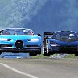 Bugatti Chiron VS Hypercars at Highlands - 4K
