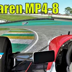 McLaren MP4-8 at HOTLAP Interlagos - rFactor 2 - 4K