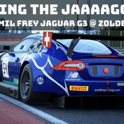 Assetto Corsa Competizione - Emil Frey Jaguar G3 Hotlaps @ Zolder (with Fanatec F1 2018 wheel cam)