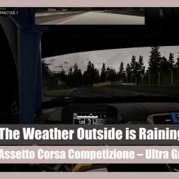 Assetto Corsa Competizione: Storm Conditions on Ultra Settings