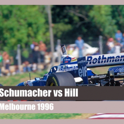 Schumacher vs Hill - Melbourne 1996