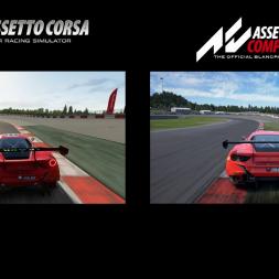 Modded Assetto Corsa vs Assetto Corsa Competizione graphics comparision