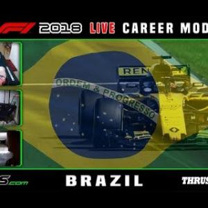 F1 2018 LIVE Career Mode #20 São Paulo, Brazil