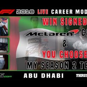 F1 2018 LIVE Career Mode #21 Yas Marina, Abu Dhabi
