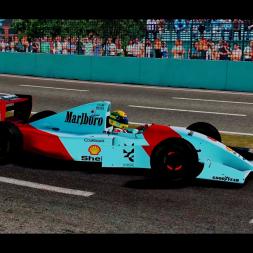 rFactor2 1993 McLaren mp4/8 Senna Pole Lap @ Adelaide