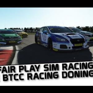 rFactor 2 live BTCC action at Donington !