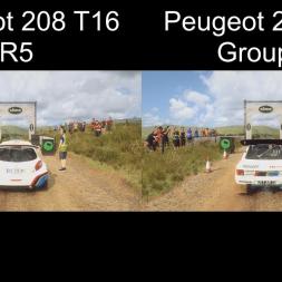 DiRT Rally 2.0 | Peugeot 208 T16 R5 VS Peugeot 205 T16 Group B