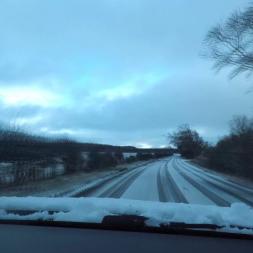 Winter Driving In the UK - Rothbury to Hexham(Northumberland) Part 1