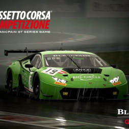 Lamborghini Huracan GT3 Onboard and TV Cam at Monza during Heavy Rain - Assetto Corsa Competizione