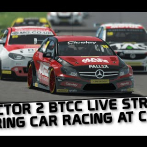 rFactor 2 live streaming BTCC action at Croft