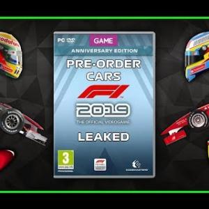 Codemasters F1 2019 Per-order cars LEAKED!!!